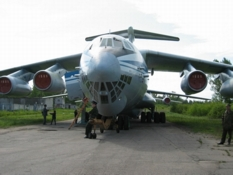 Russian airplane IL-76. Jubilee of Russian regiments of the 76th Pskov Airborne Division