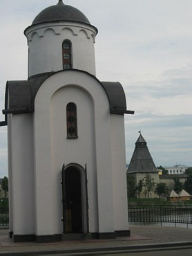 Pskov city, St. Olga Chapel.