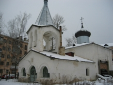 Ancient church in Pskov city.