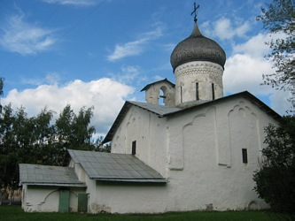 "Church St. Nicholas ""On the Usokha"" in Pskov city."
