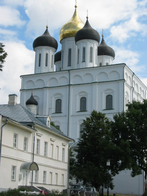 Trinity Cathedral in Kremlin Pskov city