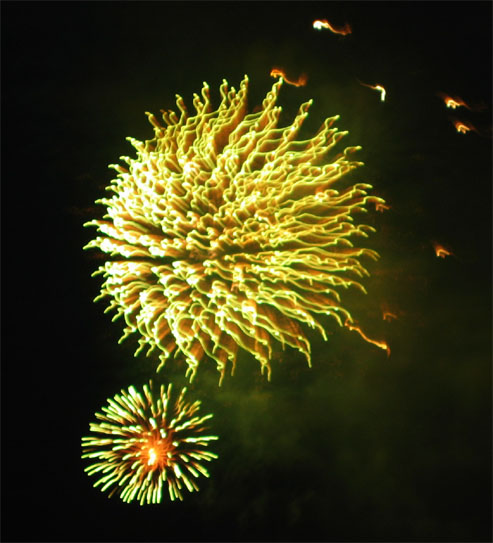 Firework display.