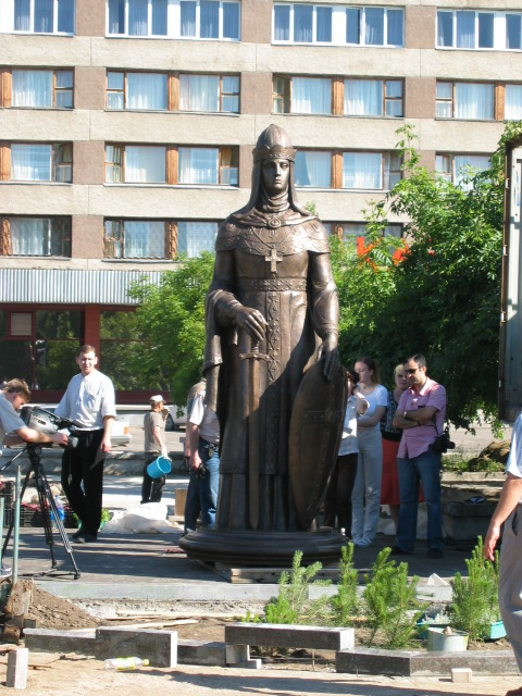 Monument statue of St.Olga by famous architect Zirab Tseretelie