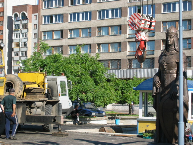 On 17 July 2003 monument statue of St.Olga by famous architect Zirab Tseretelie was erected in the park in front of the Rizhskaya hotel.