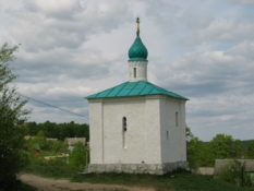 Virgin Korsunskaya Chapel. 32 km from Pskov city, 1929 year, Izborsk